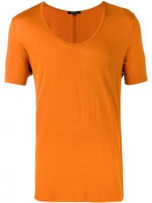 Футболка с вырезом-ковш Unconditional. Цвет: жёлтый и оранжевый