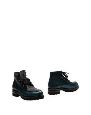 Полусапоги и высокие ботинки DSQUARED2. Цвет: цвет морской волны