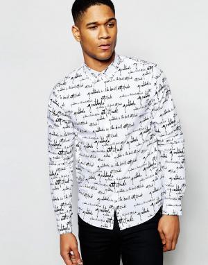 Izzue Рубашка классического кроя с контрастным воротником. Цвет: белый