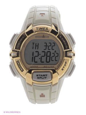 Часы TIMEX. Цвет: светло-серый, золотистый, белый