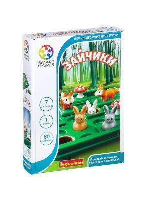 Логическая игра Зайчики BONDIBON. Цвет: зеленый, белый, оранжевый