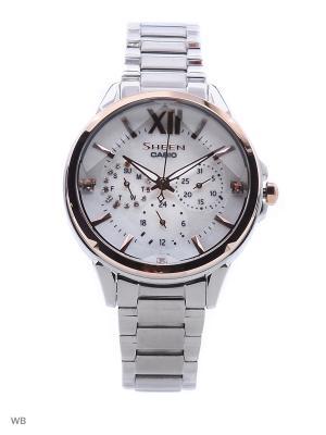Часы Sheen SHE-3056SG-7A CASIO. Цвет: белый