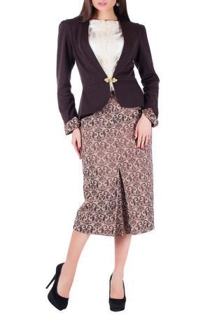 Комплект с юбкой Mannon. Цвет: бежево-коричневый