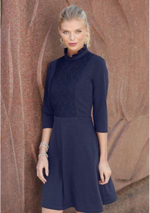 Платье MY STYLE. Цвет: синий (темно-синий)