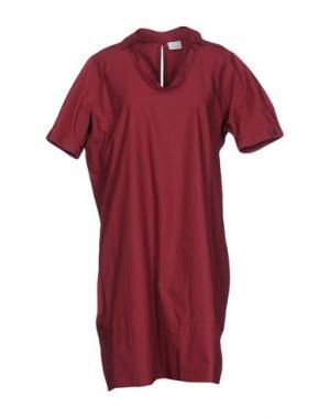 Короткое платье CALIBAN. Цвет: красно-коричневый