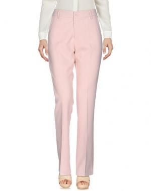 Повседневные брюки KONTATTO. Цвет: розовый