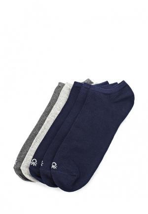 Комплект носков 5 пар United Colors of Benetton. Цвет: разноцветный