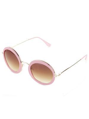 Очки солнцезащитные Bijoux Land. Цвет: розовый