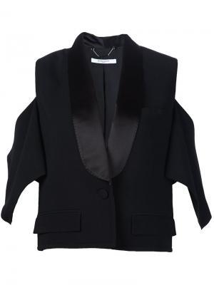 Блейзер стилизованный под смокинг Givenchy. Цвет: чёрный