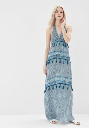 Платье пляжное womensecret women'secret. Цвет: голубой