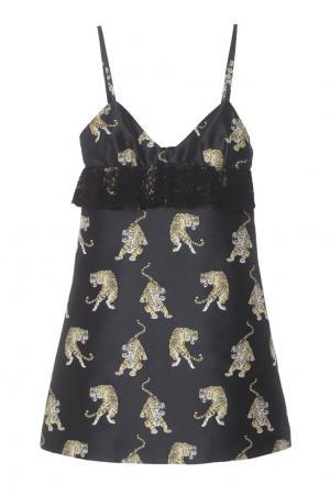 Платье с принтом Giamba. Цвет: черный, желтый, белый