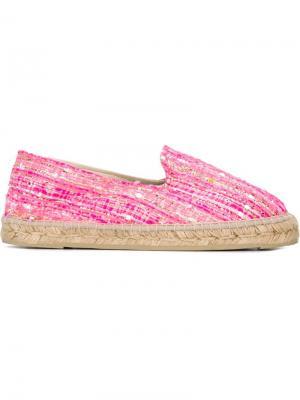 Плетеные эспадрильи Manebi. Цвет: розовый и фиолетовый