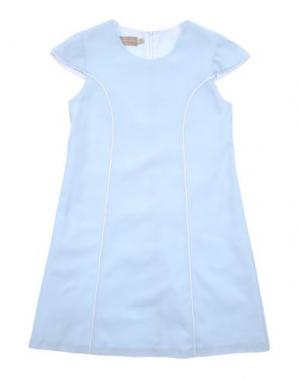 Платье LA STUPENDERIA. Цвет: небесно-голубой