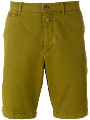 Повседневные шорты чинос Closed. Цвет: зелёный