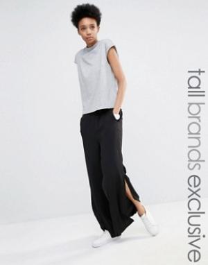 ADPT Tall Широкие брюки с разрезами. Цвет: темно-синий
