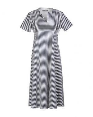 Платье до колена NINEMINUTES. Цвет: синий