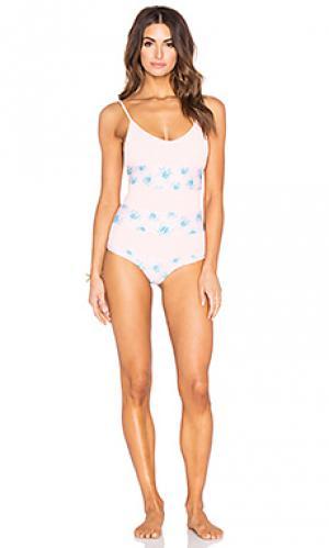 Купальник todos santos Tori Praver Swimwear. Цвет: розовый
