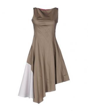 Платье до колена IVAN MONTESI. Цвет: серый