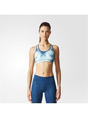 Спортивный бюстгальтер жен. RB BRA PRINT 3 Adidas. Цвет: бирюзовый, темно-синий