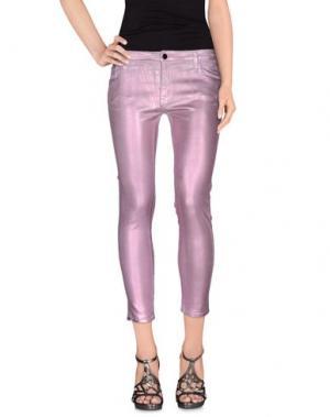 Джинсовые брюки-капри 75 FAUBOURG. Цвет: розовый