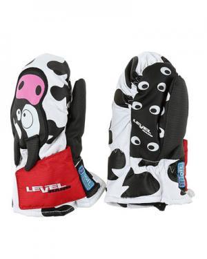 Лыжные рукавицы  Animal level. Цвет: черно-белый