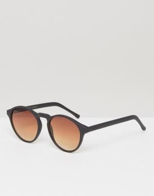 Komono Черные круглые солнцезащитные очки Devon. Цвет: черный