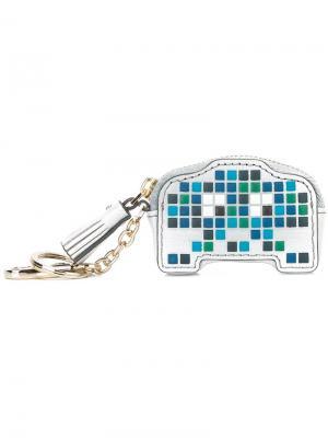 Кошелек для монет Space Invaders Robot Anya Hindmarch. Цвет: синий