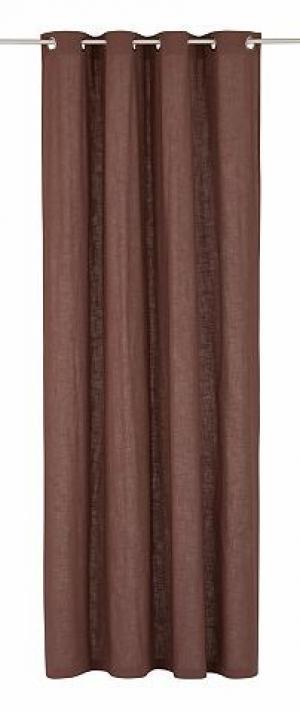 Занавеска, My home, «Hanford» (комплект из 1 шт.) ECOREPUBLIC HOME. Цвет: коричневый