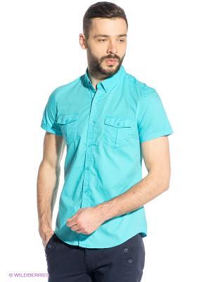 Рубашка Oodji. Цвет: голубой