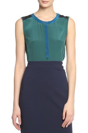 Блузка-топ Caractere. Цвет: зеленый