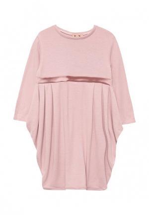 Платье домашнее Petit Pas. Цвет: розовый