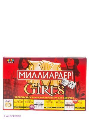 Настольная игра Миллиардер-Girls TopGame. Цвет: красный, желтый