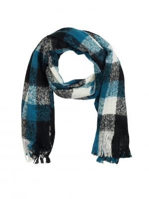 Шарф мужской Gaudi. Цвет: черный, белый, голубой