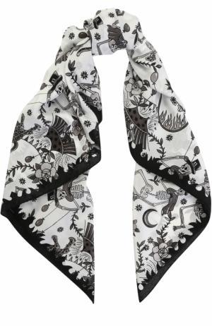 Шелковый платок с принтом Zadig&Voltaire. Цвет: белый
