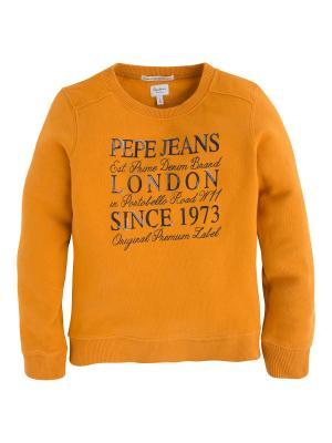 Свитшот PEPE JEANS LONDON. Цвет: желтый