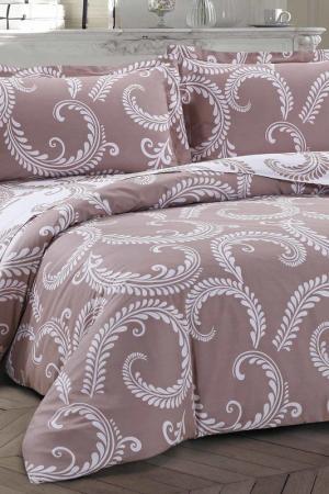 Постельное белье Евро, 50x70 СIOCCOLATO. Цвет: коричневый, белый
