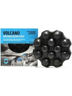 Мыло оливковое  массажное с вулканическим пеплом OLIVE SPA, 110гр. (Греция) Spa. Цвет: черный