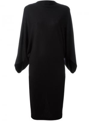 Платье с вырезом-лодочка Chalayan. Цвет: чёрный