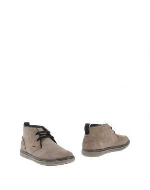 Полусапоги и высокие ботинки GEOX. Цвет: голубиный серый