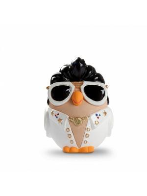 Керамическая статуэтка сова Элвис Пресли, Goofi. Цвет: белый