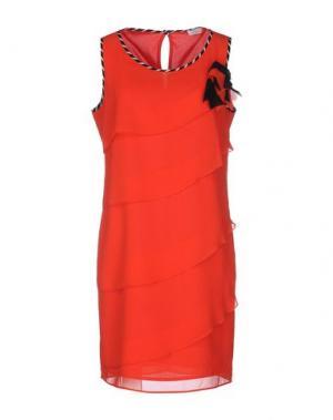Короткое платье CALALUNA. Цвет: красный