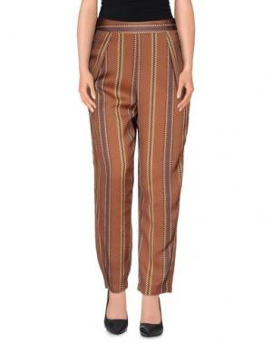 Повседневные брюки MADE FOR LOVING. Цвет: какао