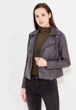 Куртка кожаная Noisy May. Цвет: серый