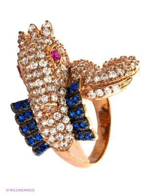 Ювелирное кольцо Happy Garnets. Цвет: синий, золотистый