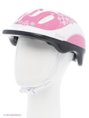 Шлем роликовый Larsen. Цвет: розовый