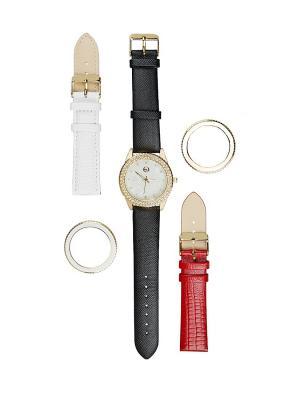 Часы Honey Jewelry 9 в 1 с покрытием золотом. Цвет: золотистый