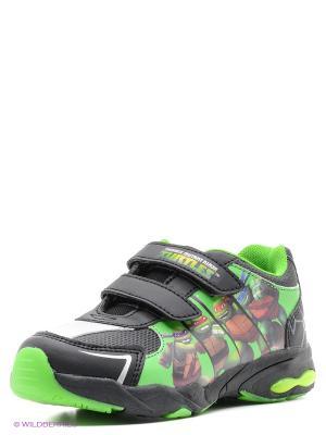 Кроссовки Ninja Turtles. Цвет: черный, зеленый