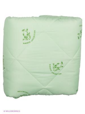 Одеяло Letto бамбук в п/э 2,0 сп универс. чемодане, 170*215см. Цвет: зеленый