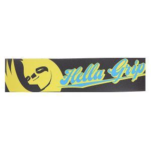 Шкурка для скейтборда  Hella Hg Logo Black/Yellow Grip. Цвет: черный,голубой,желтый