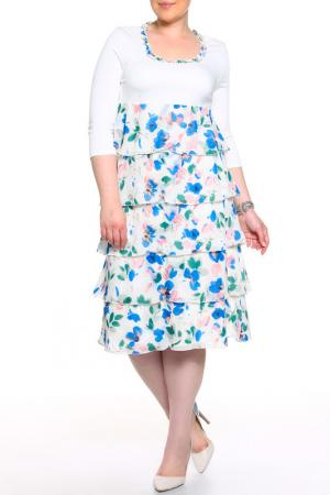 Платье BERKLINE. Цвет: белый